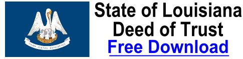 Deed of Trust Louisiana