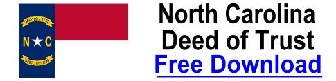 Free Deed of Trust North Carolina