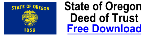 Deed of Trust Oregon