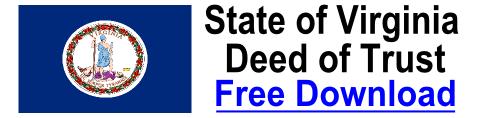 Free Deed of Trust Virginia