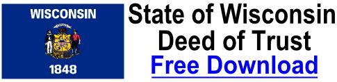 Free Deed of Trust Wisconsin