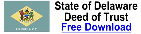 Deed of Trust Delaware