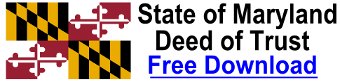 Free Deed of Trust Maryland