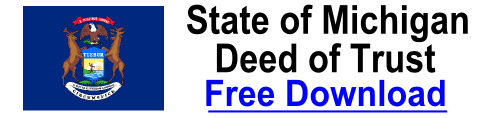 Free Deed of Trust Michigan