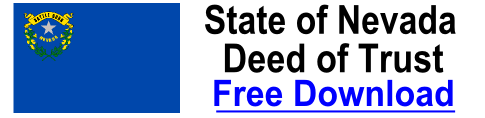 Free Deed of Trust Nevada