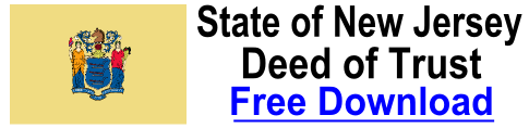 Free Deed of Trust New Jersey