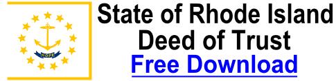 Free Deed of Trust Rhode Island