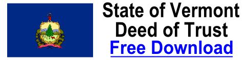 Free Deed of Trust Vermont